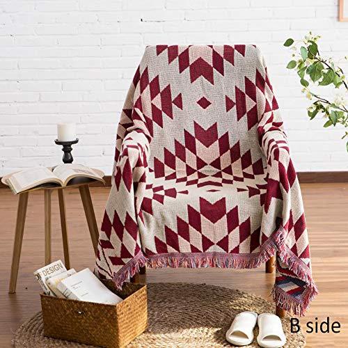 Monba Boho Doppelseitiges Super Soft Plaid Fransen Bettdecke, einfach und elegant, leicht, gemütliche Decken für Couch/Sofa/Stuhl/Bettwäsche - Bettwäsche-sofa-stuhl