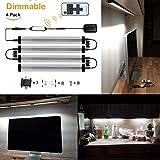 GreenSun 3W LED Unterbauleuchte Lichtleiste Küchenleiste, Transparent LED Küchenleuchte Küchenlampe,DC 24V 30cm, 6000K,LED Schrankbeleuchtung,Schrankleuchte, Schranklampe Mit Fernbedienung 4er Pack