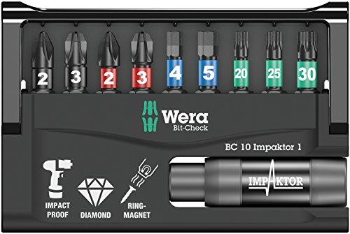 Bit-Sortiment, Bit-Check 10 Impaktor 1 SB, 10-teilig, Wera 05073980001
