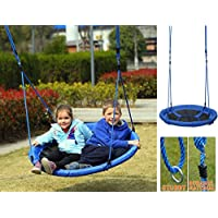 Giant Padded Fabric Crows Nest Rope Swing Spider Web Net Outdoor Garden Seat, 100 cm Diameter
