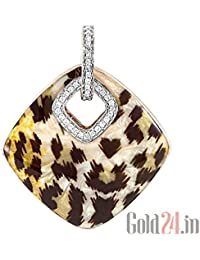 Lurie Jewellery Gold Pendant With Diamonds And Enamel