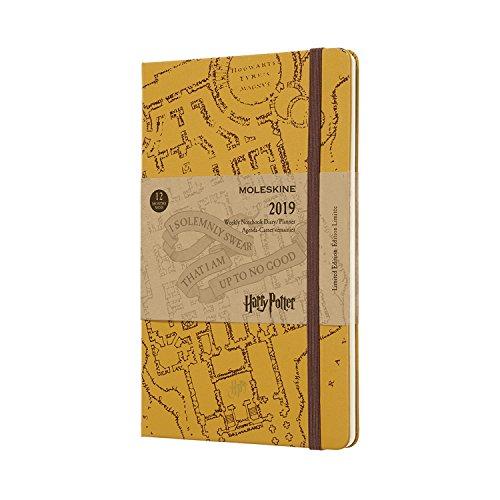 Moleskine Wochen Notizkalender, Taschenkalender, Harry Potter, 12 Monate, 2019, Large, A5, Hard Cover, Beige