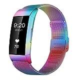 SYOSIN für Fitbit Charge 3 Armband, Edelstahl Armband mit Verstellbarer Schnalle Elegance Accessoires Bänder für Fitbit Charge 3 Fitness Tracker