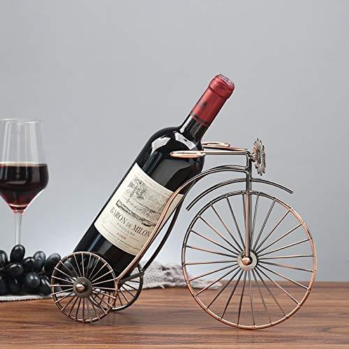 Tianxuan Weinregal Wein Ornaments Schmiedeeisen Rad Tricycle Weinregal Dekoration Kreativer Weinflaschenhalter