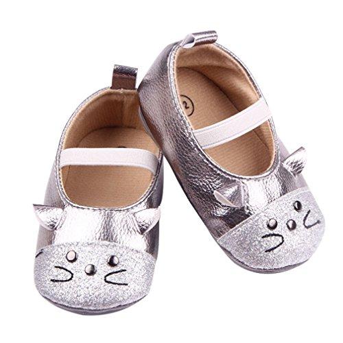 EOZY Babyschuhe Mädchen Lauflernschuhe Festlich Schuhe Taufschuhe Silber