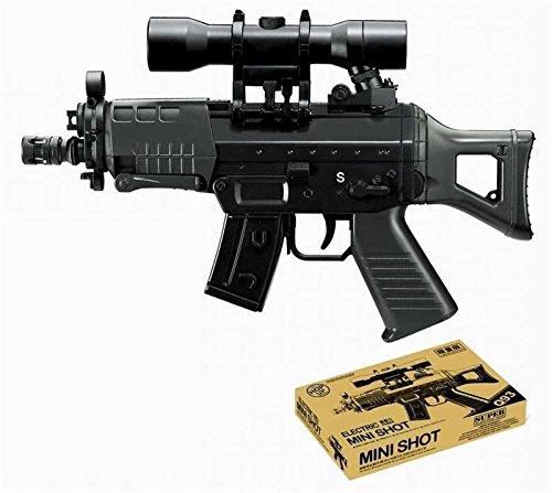 Softair-Gewehr Mini MX Hop Up 6 mm schwarz elektrisch AEG inkl. Akku und Ladegerät unter 0,5 Joule ab 14 J.