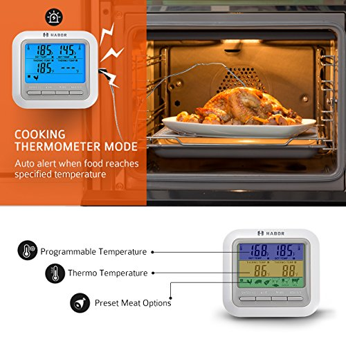 Zoom IMG-2 habor cucina timer doppia termometro