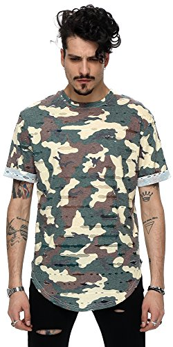 pizoff-unisexe-hip-hop-basic-long-tees-tarnnung-camouflage-imprime-camouflage