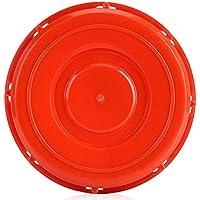 Zerodis Tapa del Tanque IBC, Tapa de la Cubierta del Accesorio del totalizador de IBC para el Almacenamiento del líquido del Agua, plástico Rojo 163m m(B)