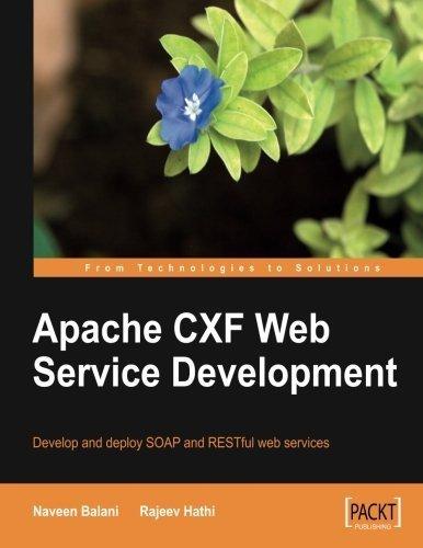 Apache CXF Web Service Development by Balani,Naveen, Hathi,Rajeev (2009) Paperback