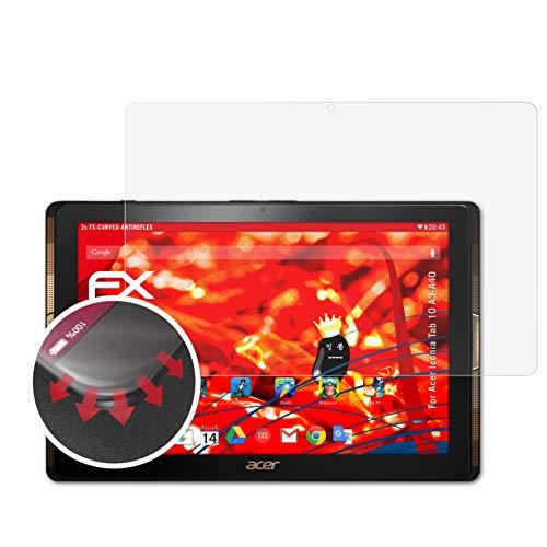 atFolix Schutzfolie passend für Acer Iconia Tab 10 A3-A40 Folie, entspiegelnde und Flexible FX Displayschutzfolie (2X)
