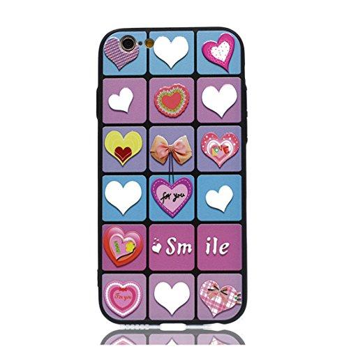 iPhone 7 Custodia, iPhone 7 Custodia Case (4,7 pollici) ( Bowknot Love ) TPU morbido nuovo modello di disegno carino originale gel posteriore flessibile durevole Graffi Resistenti Color 3