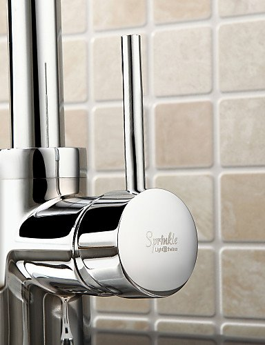 AI LI WEI Bathroom Furniture - Solid Brass Pull Down Kitchen Faucet - Chrome Finish
