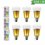 [6 Pack] LED RGBW Lampe mit Fernbedienung