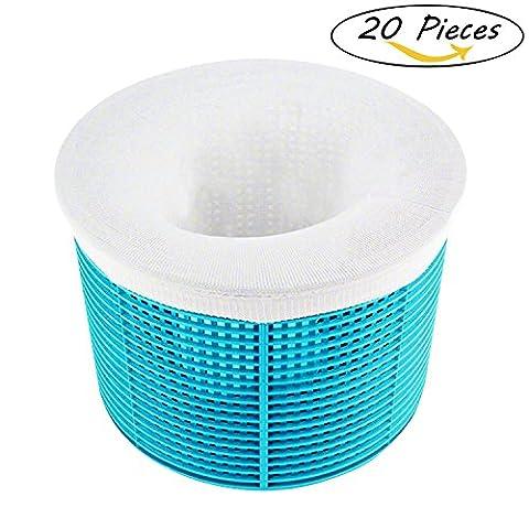 Tubala 20 Packung Pool Skimmer Socken Nylon Stoff Filter Savers für Körbe und Abschäumern