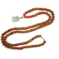 Boho Chic Red Coral For Base Chakra Mala with Ganesha Pendant for Solidity