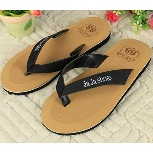 Ouneed® Flip Flops Herren Erwachsene Zehentrenner , Flip Flops Hausschuhe Strand Sandalen Sommer Indoor & Outdoor Hausschuhe Schuhe Schwarz