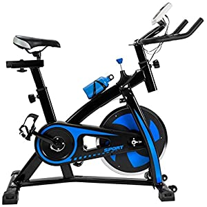 FP-TECH fp-hmbb-07, Fahrrad Spinning Unisex–Erwachsene, schwarz, 115x 50x 110cm