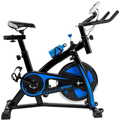 FP-TECH FP-HMBB-07, Bici da Spinning Unisex – Adulto, Nero, 115 x 50 x 110 cm