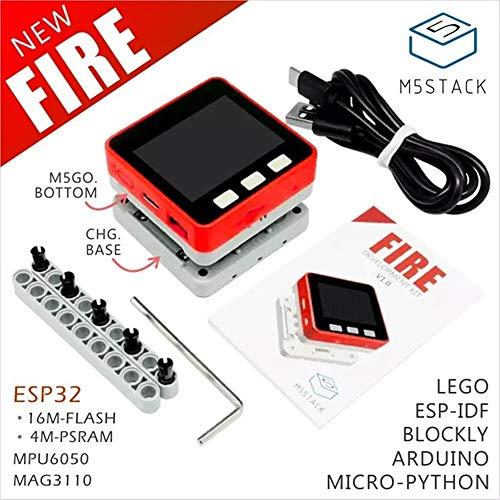 M5STACK Psram 2.0. Fire Iot kit Dual Core ESP3216m-flash + 4m-psram scheda di sviluppo mic/BLE MPU6050+ MAG3110di Micropython (Fire)