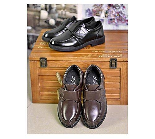 Baixos Sapatos Gaorui Jovem De Sapatos Preto Couro Sapatos Criança Marrom Comunhão Festivas 0HEqpdw