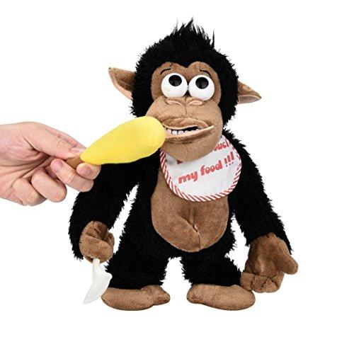 DRESS_start Neuheit Lustiger schreiender Affe Elektronisches Plüschtier Tricky Puppe für Kinder & Erwachsene (Milch Affe)