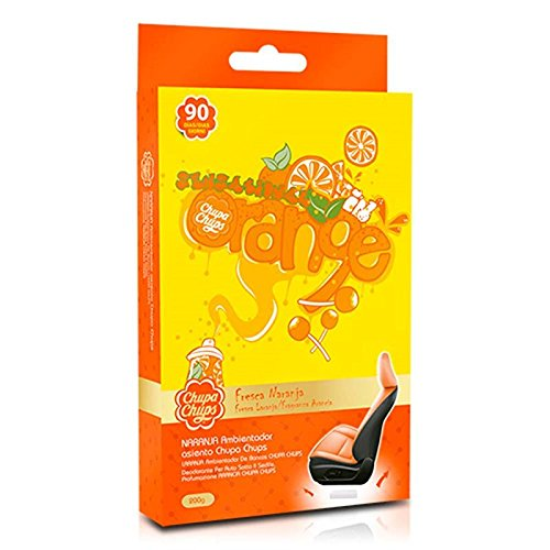 Chupa Chups CHP903EU Air Freshner Deodorante Under Seat per sotto Il Sedile, Fraganza Arancia, Arancione, 200