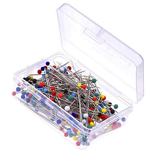 Glas Kopf Pins Box für Schneiderpuppe ()