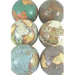 Unidades 6 varios colores estilo antiguo mundo Celloexpress bolas