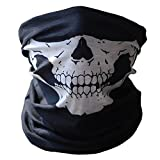 Picture Of Skull Tubular Protective Dust Mask Bandana Motorcycle Polyester Scarf Face Neck Warmer for Snowboard Skiing Motorcycle Biking