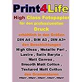 50 hojas de papel A4 SATIN Baryta Foto 290 g / m². Imprimible con todas las impresoras de inyección de alta calidad con tintas originales y tintas compatibles. Papel fotográfico para uso profesional. Revestimiento de superficie única con barita real (sulfato de bario).