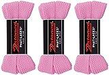 2Stoned 3 Paar Original PHAT Laces Rosa 120cm lang und 3cm breit, Flache breite Schnürsenkel für Sneaker und Chucks