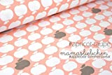 Mamasliebchen Sweat-Stoff Meterware apple bite #apricot - taupe (0,5 m x 1,5 m)