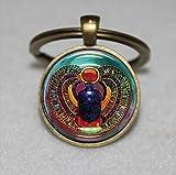 Skarabäus Schlüsselanhänger Glass Tile, ägyptische, Einzigartige Schlüsselanhänger Key Ring Geschenk, Alltag Schlüsselanhänger Key kette