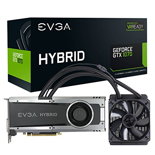 EVGA GeForce GTX 1070 HYBRID GAMING, 8GB GDDR5, LED, All-In-One Water-cooling with 10CM Ventola, DX12 OSD Supporto (PXOC) Scheda Grafica 08G-P4-6178-KR