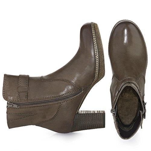 Gabor Comfort 32.874 Damen Stiefel/Stiefelette (Ankle Boots) mit Reißverschluss mit Blockabsatz Leder ratto (Micro)