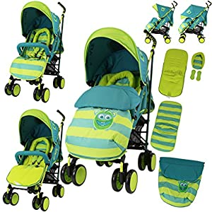 iSafe Stroller - Lil Friend Design Complete with Footmuff Headhugger, Raincover, Bumper Bar   9