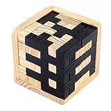 TOOGOO Rompecabezas de madera 3D 54 Bloques en forma de T acertijo Rompecabezas intelectual geometrico Acertijo logico Juguete educativo para ninos pequenos y adultos