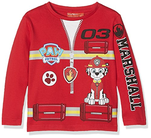 Nickelodeon paw patrol uniform, felpa bambino, rosso (red 19-1763tc), 2-3 anni