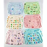 Baby Shopiieee Langot For New Born Baby Cotton Nappies (6-9 Months) - Set Of 6 - Print & Color May Vary