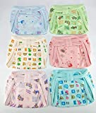 #7: Baby shopiieee langotis for New Born Baby 6-9 Months - Set of 6 (Print & Color May Vary)
