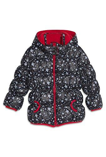 BLUE SEVEN Winterjacke mit Fleecefutter - Mädchen Winter-Jacke Kinder Stepp Herbst Übergang Fleece schwarz,104