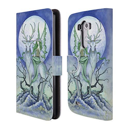 Head Case Designs Offizielle Amy Brown Mitternacht Fee Elementare Feen Leder Brieftaschen Huelle kompatibel mit LG G3 / D855 / D850 / D851