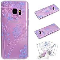para la Cubierta de la Caja del teléfono Samsung Galaxy S9, HengJun Tótem Transparente TPU Gel de Silicona para teléfono Inteligente Samsung Galaxy S9 - Diente de león