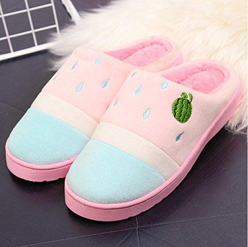 Pantoufles de coton Femmes épais Base Hiver Accueil Keep Warm Indoor Anti-patinage Pantoufles en peluche ( couleur : N ° 3 , taille : 35-36 ) # 1