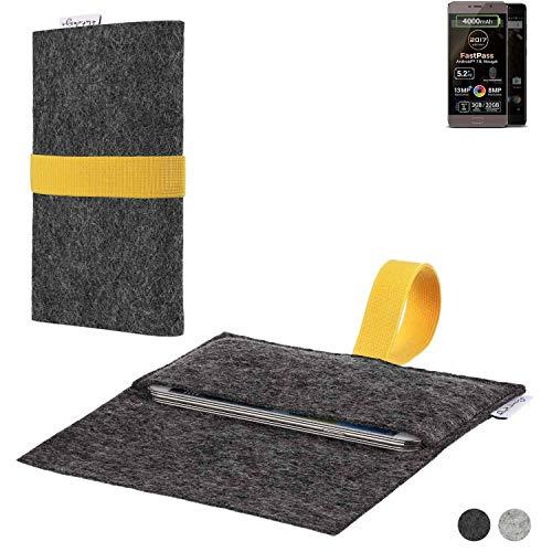 flat.design Handy Hülle Aveiro für Allview P9 Energy Lite (2017) passgenaue Filz Tasche Case Sleeve Made in Germany