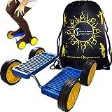 STEP FUN + Flames N Games Reisetasche. Balance Spielzeug mit Pedalen. Circus Fähigkeiten Spielzeug für Kinder & Erwachsene! (Blau)