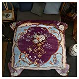 Decken Werfen Dicke weiche Flauschige gemütliche warme lila Blumenmuster Schlafcouch 200 * 230 cm WYQLZ