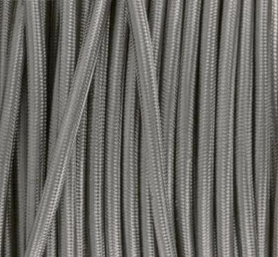 Textilkabel, Stoffkabel, Lampen Kabel Strom, 3-adrig, 3x0,75mm², GWH-Silber von GWH auf Lampenhans.de