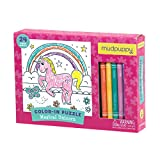 Magical Unicorn Color-in Puzzle